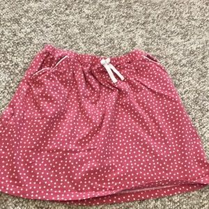 Hanna Anderson Red and white Polka dot skirt